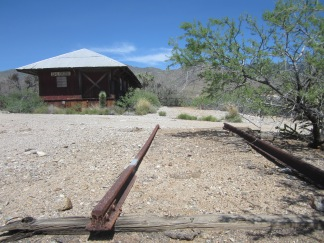 All that's left of the railroad station.