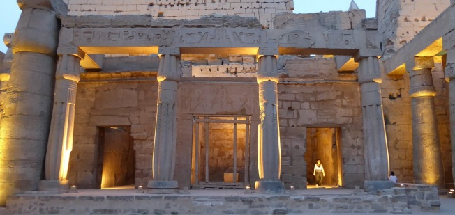 The original barque shrine built by Hatshepsut. Photo by Tricia.